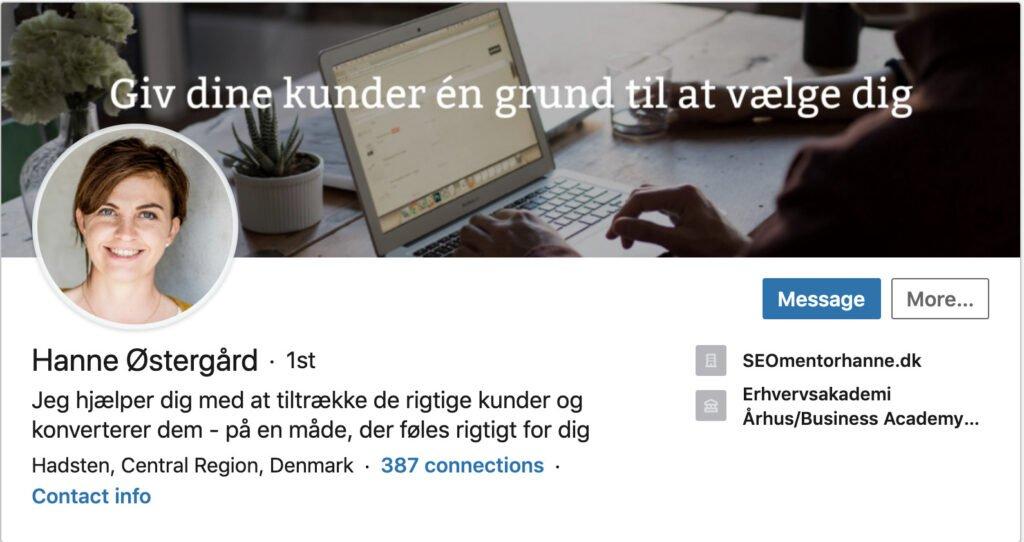 Linked ind bagrundsbillede computervisning Hanne østergård