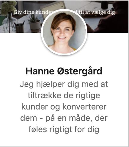 Hanne ØstegårdLinkedin cover sidevisning
