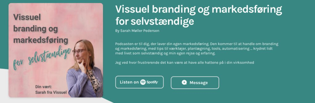 Podcasten Vissuel branding og markedsføring for selvstændige