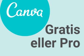 Canva gratis eller pro - billede til blogindlæg hos sarah fra Vissuel